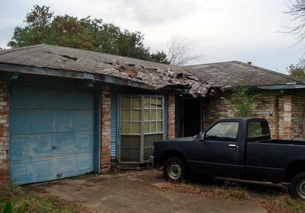 We are a Dallas based home buyer company and we buy houses with damaged roofs such as this one.
